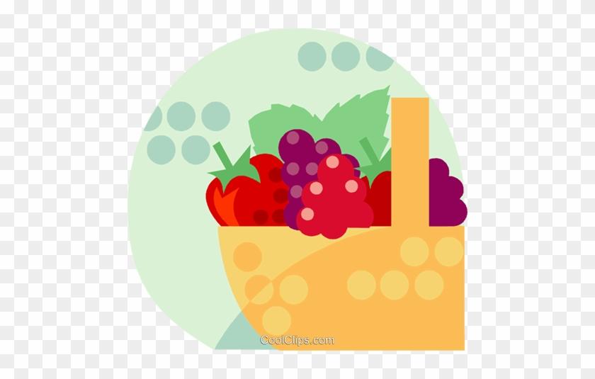 Basket Of Fruit Royalty Free Vector Clip Art Illustration - Rutgers New Jersey Medical School #1227521