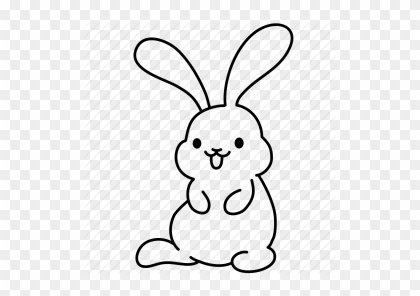 Cute Rabbit Drawing Iconfinder Easter Bunny Set Iconka - Cute Rabbit Drawing  - Free Transparent PNG Clipart Images Download