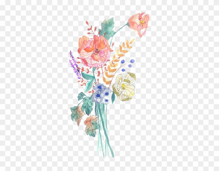 Floral Design Watercolour Flowers Watercolor Painting - Watercolor Png Rose Flowers #1228528