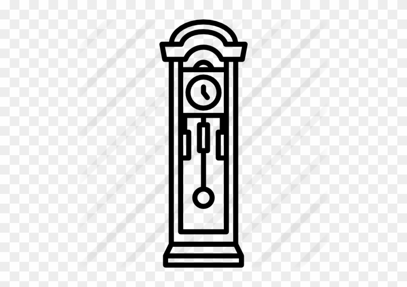 Grandfather Clock - Icon - Free Transparent PNG Clipart