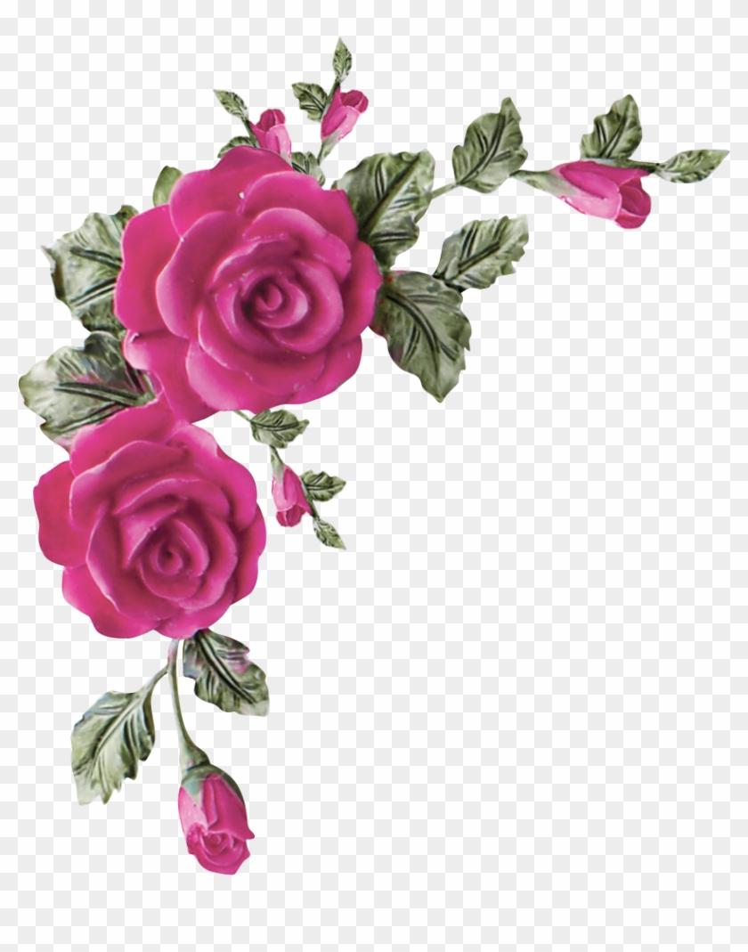 valentina touchofroses el76 pink rose corner border free