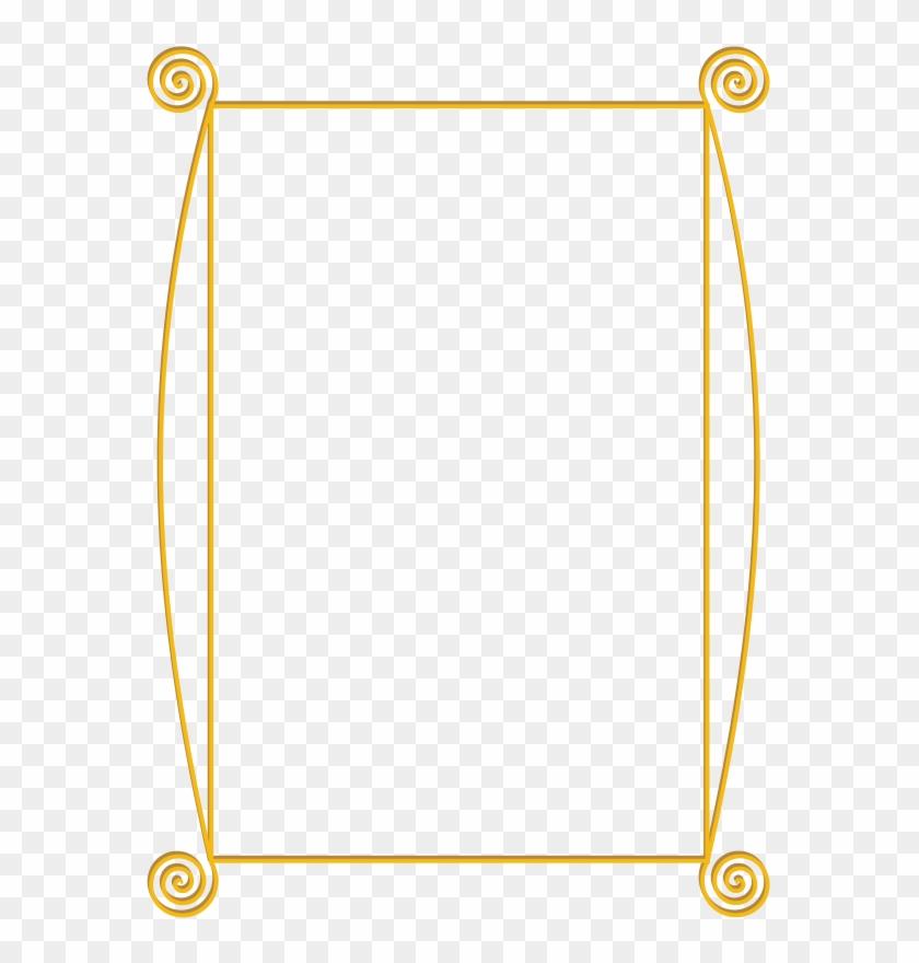 Golden Spiral Frame Clip Art - Gold Border Clip Art #1228865