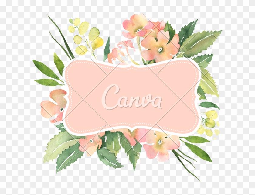 Watercolor Flower Bouquet Illustration For Wedding - Flower #1228923