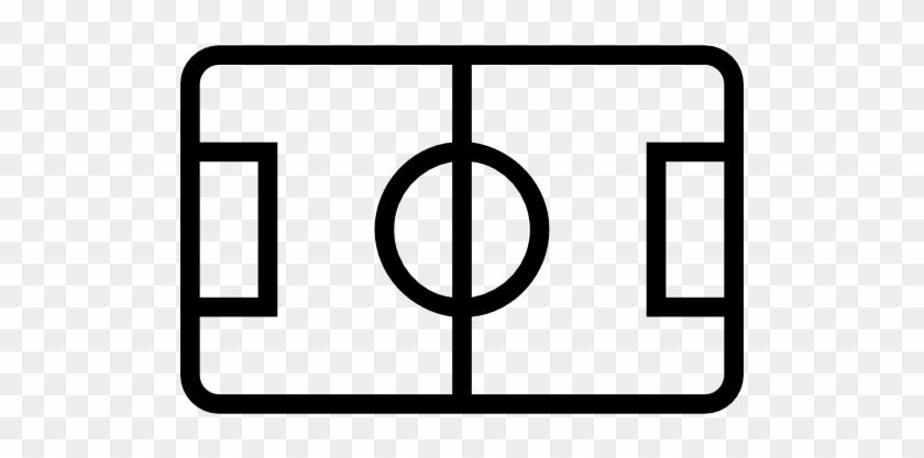 Soccer Field Top View Stroke Symbol Free Icon - Soccer Field Icon #1229044