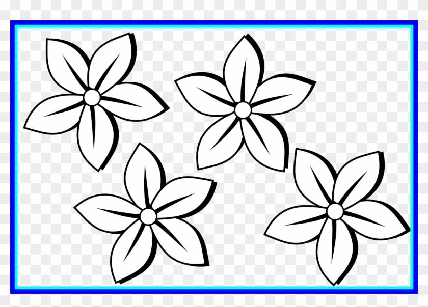Orchid Clipart Orchid Flower Clipart Black And White - Flower Clipart Black And White #1229415