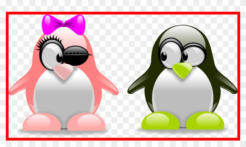 Appealing Wrote A Guest Check It Out Happy Valentine - Tux Penguins #1229576