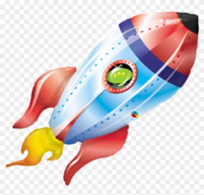 "Balloon Spacecraft Outer Space Rocket Alien - 40"" Alien Space Ship Helium Shape #1230337"
