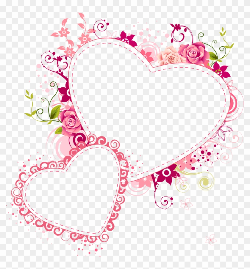Paper Picture Frames Heart Love Clip Art - Heart Photo Frame Png #1230566