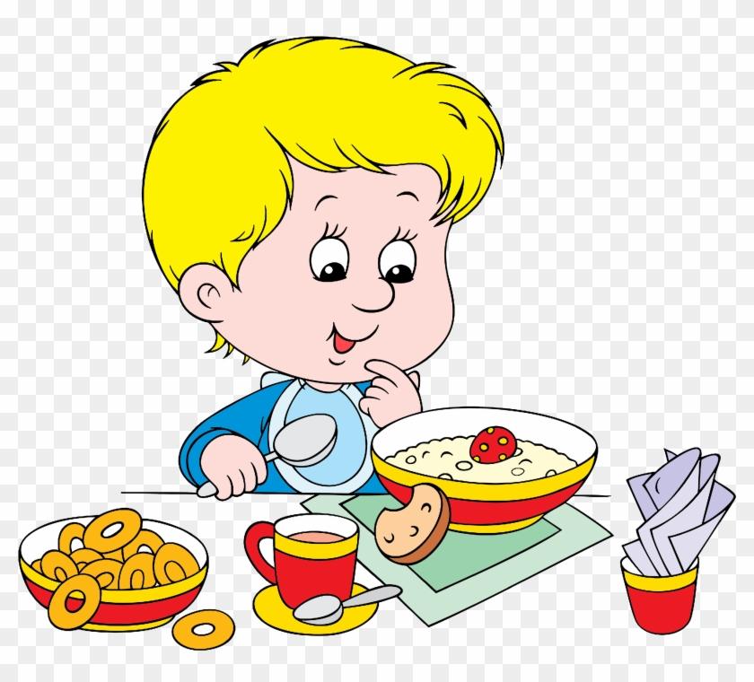 Breakfast Cereal Eating Clip Art - Eating Breakfast Clipart #1230889