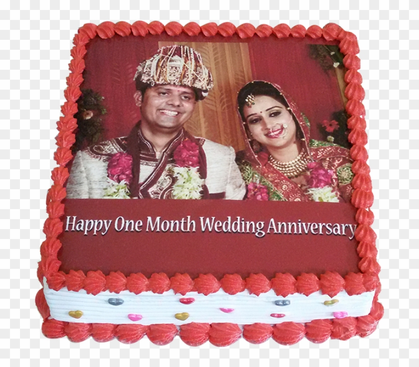 1st Marriage Anniversary Pinele Photo Cake Hy 1230931