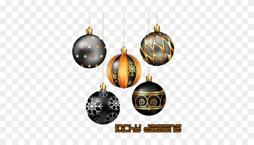 Psd detail hanging silver and gold christmas balls free