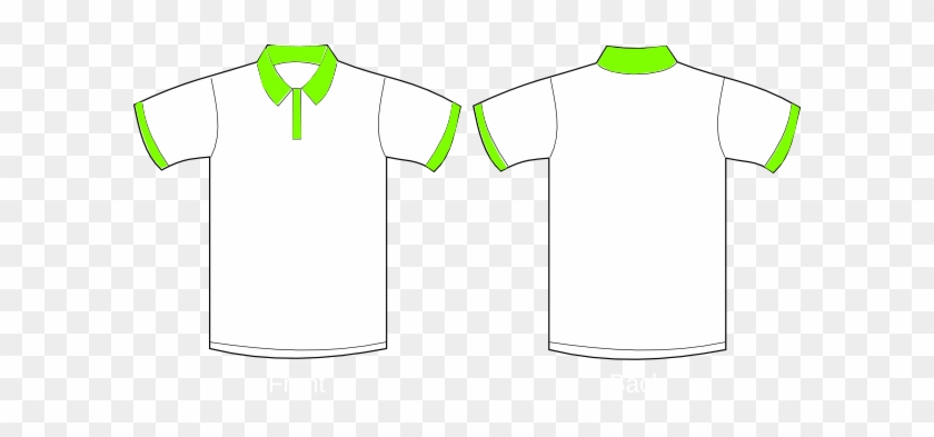 Polo Shirt Sleeves Clip Art At Clker Com Vector Clip - Polo T Shirt Front And Back Green #1231092