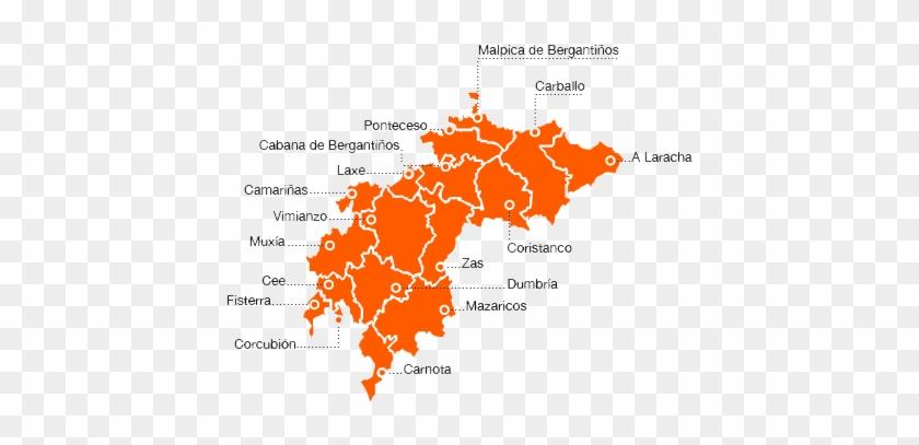 Mapa Ruta Del Cementerio De Los Ingleses, Hasta El - Ayuntamientos Costa Da Morte #1231138