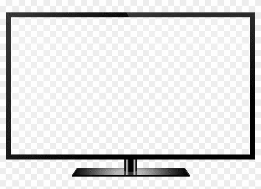 Tv Clipart Photo - Vector Flat Screen Tv #1231661