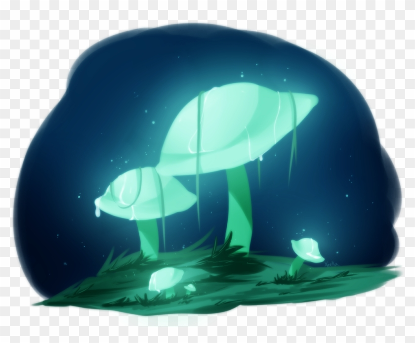 Glow Mushrooms Doodle By Xeella On Deviantart - Glowing Mushroom Png #1232356