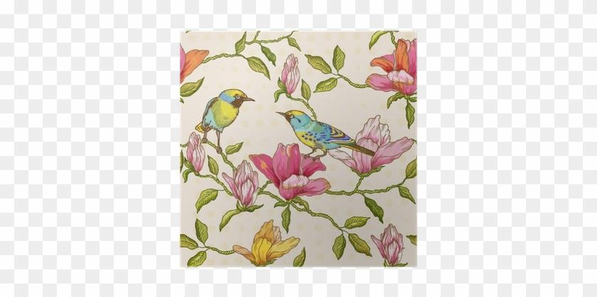 Vintage Seamless Background - Cumberland Blue Bird Notebook Casebound A5 100 Leaf #1233337