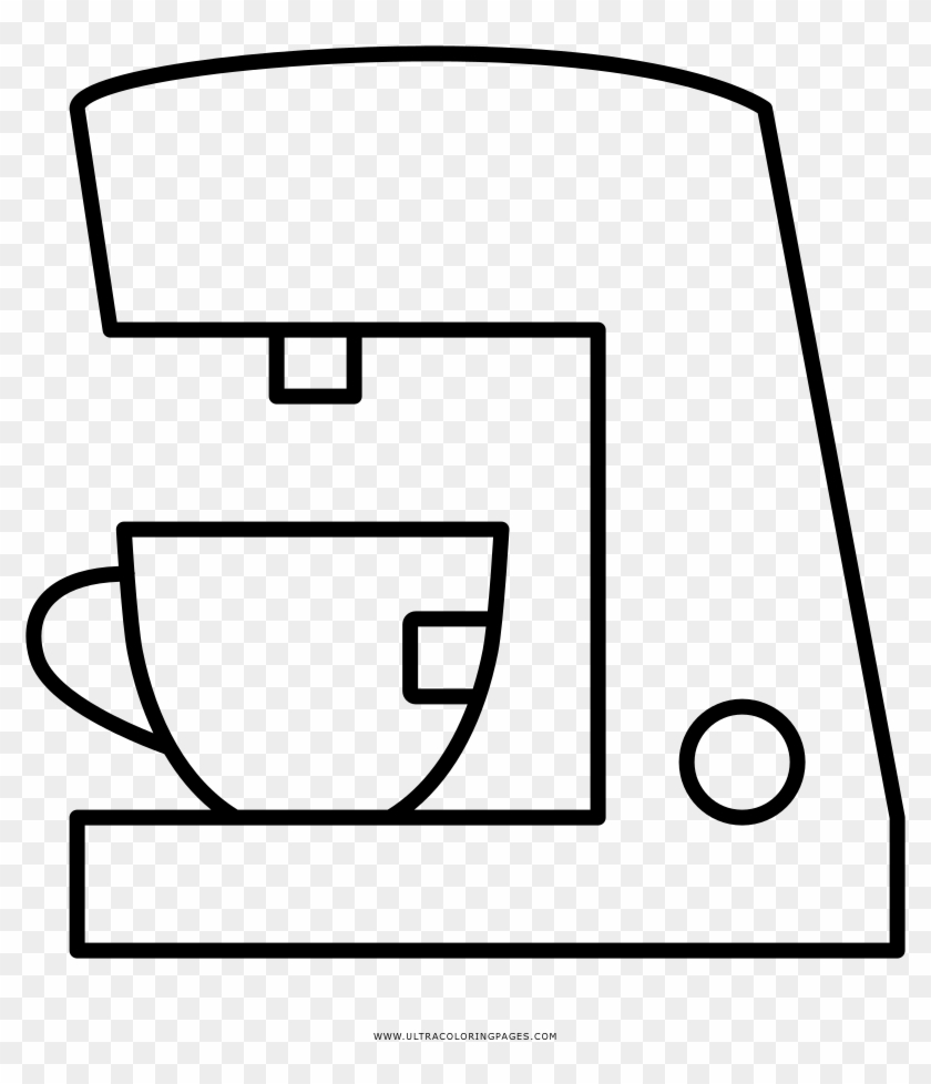 Espresso Machine Coloring Page Coffeemaker Free Transparent Png