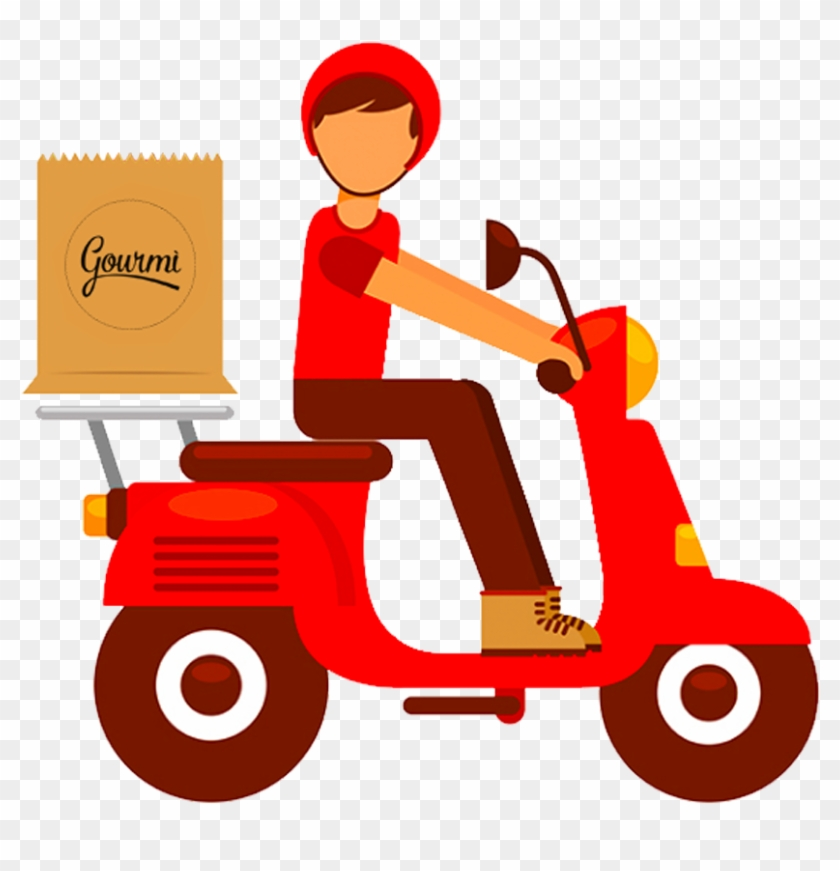 Fast Food Delivery Online Food Ordering Fried Chicken - Motorcycle Delivery #1234394