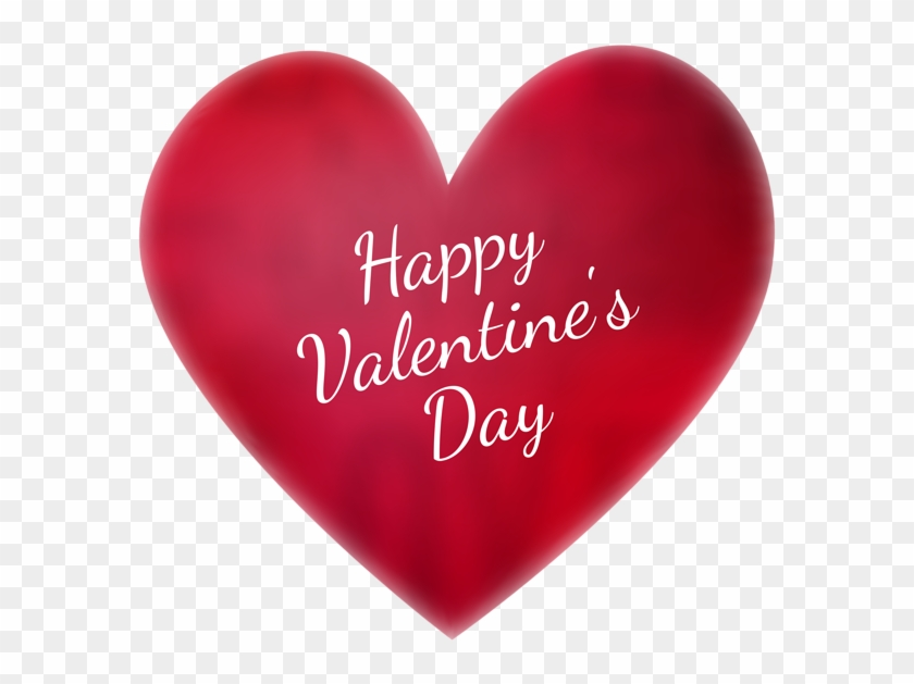 Happy Valentines Day Png Image With Transparent Background - Happy Valentine's Day Heart #1234894