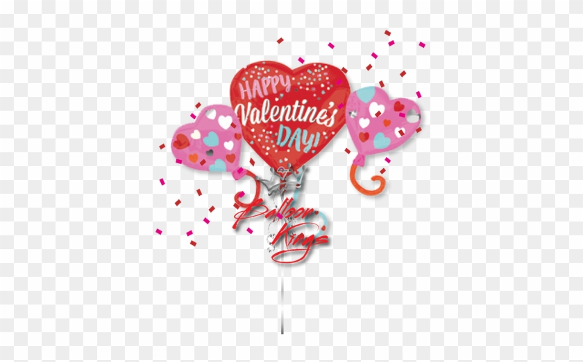 "Happy Valentines Day Hearts - 38""pkg Hvd Balloon Hearts #1234958"