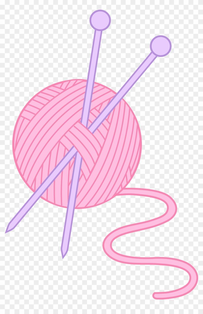 282 2820936 pink yarn and knitting needles clipart yarn clip art