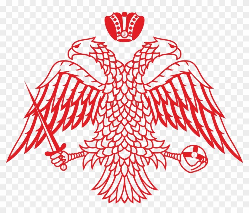 Byzantine Empire Byzantium Double Headed Eagle Symbol Flag Of