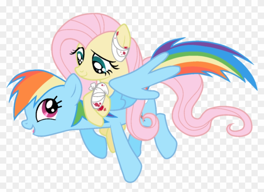 Scintillant H, Bandage, Blood, Fluttershy, Injured, - Rainbow Dash Wing S #1236015