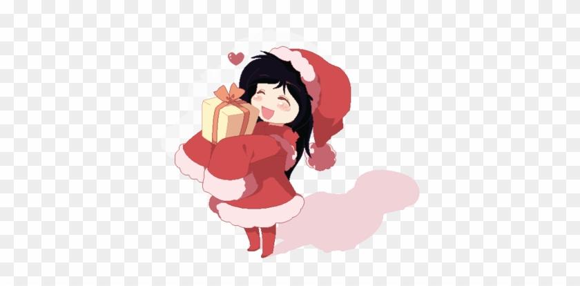 Anime Christmas Couple Love Download - Anime Chibi Girl Christmas ...