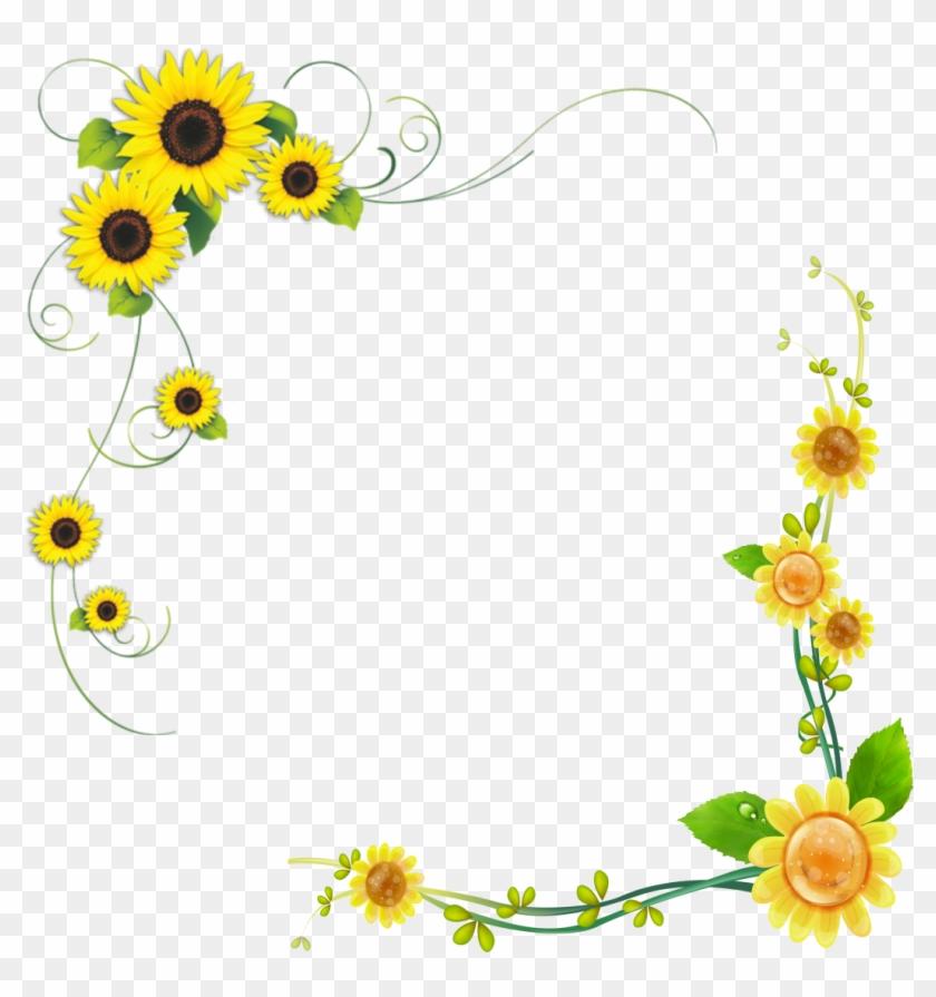 Common Sunflower Floral Design - Sunflower Borders #1237376