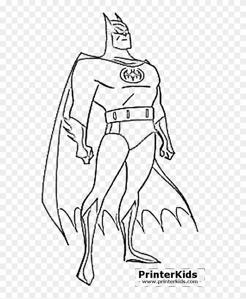 Batman Coloring Page Preview