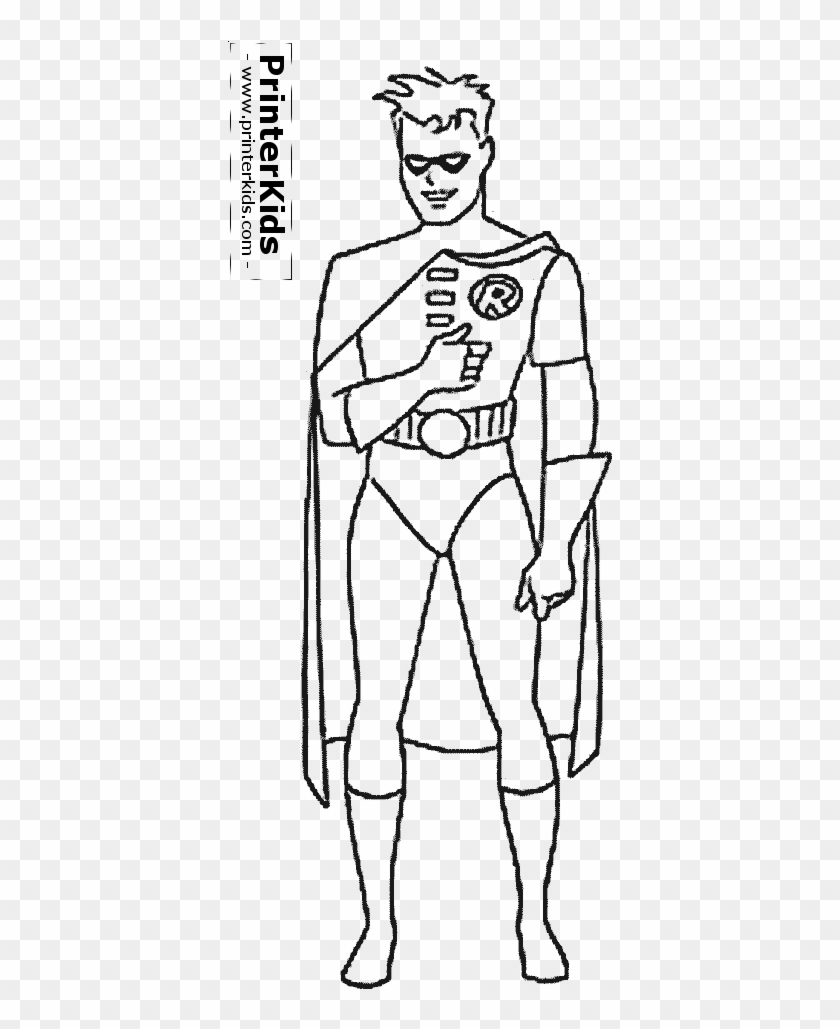 Batman And Robin Coloring Pages On Beautiful Batman Superhero Robin Coloring Page Free Transparent Png Clipart Images Download
