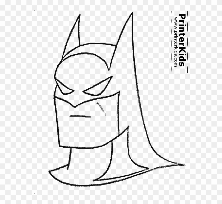 Batman Head Silhouette The Mask Coloring Page