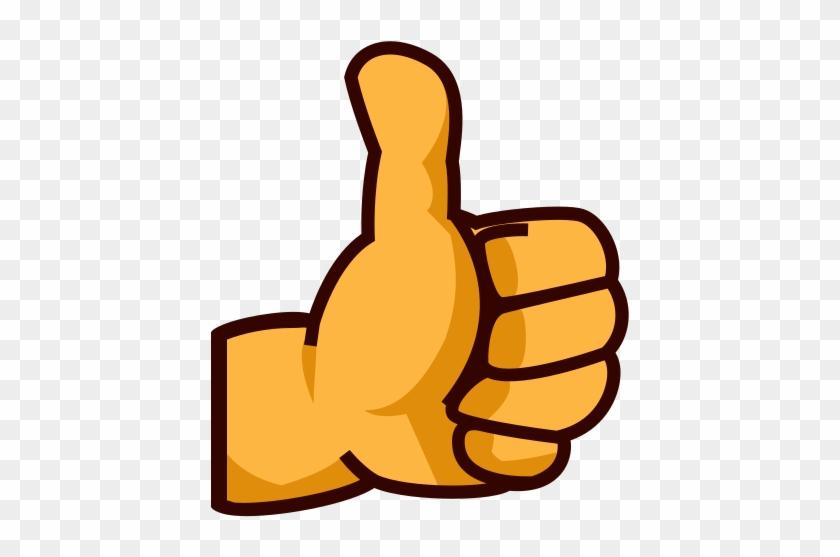 Thumb Signal Emoji Human Skin Color Clip Art - Thumbs Up Sign Emoji #1238298