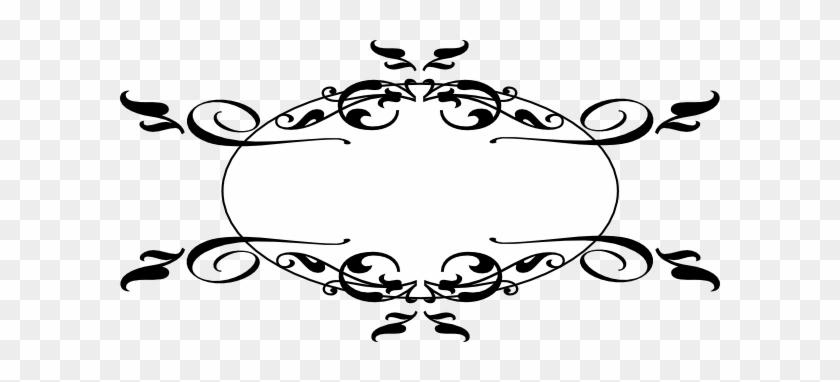 Swirl Black Clip Art At Clker - Decorative Elements Clip Art #1239883