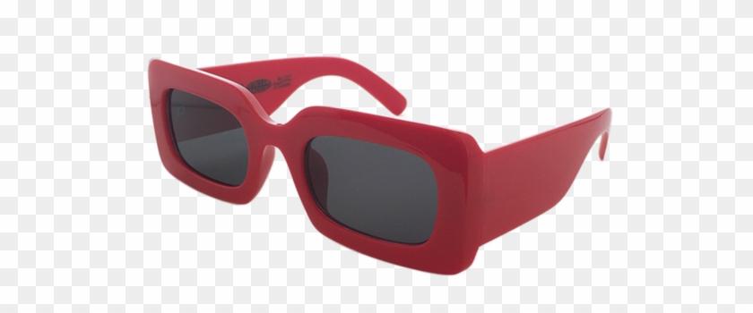 Rhubic Square Sunglasses In Ruby Red - Sunglasses #1240649