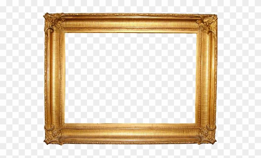Gold Frame Png Transparent Images - Golden Photo Frame Png #1241441