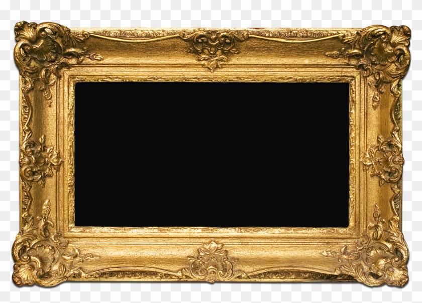 Golden Frame Png Image Background - Frame Gold Png Transparent #1241499