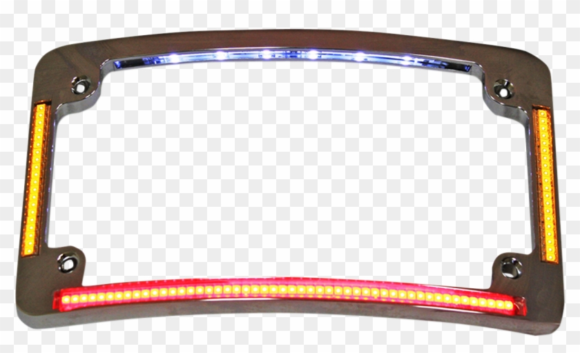 Custom Dynamics Chrome Radius License Plate Frame Led - Motorcycle ...