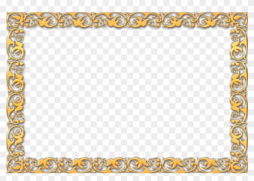 Vintage Gold Frame Border - Simple Golden Frame Png #1241517