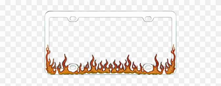 Decorative License Plate Frames - Flame License Plate Frame - Free ...