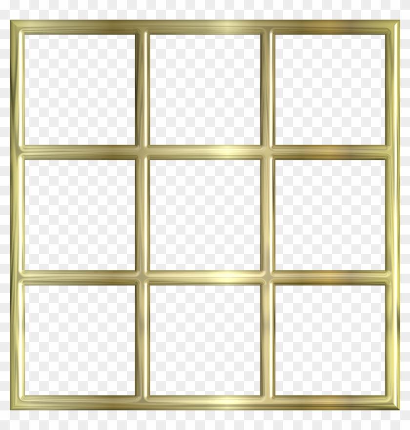 Gold Frame Border Png Traditional Thai Golden - Transparent Window Frame Vector #1241602