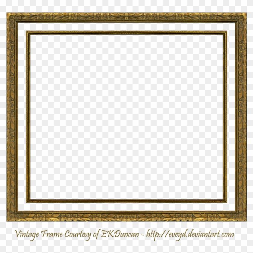 Vintage Gold Frames Clip Art - Gold Picture Frame Gif #1241712