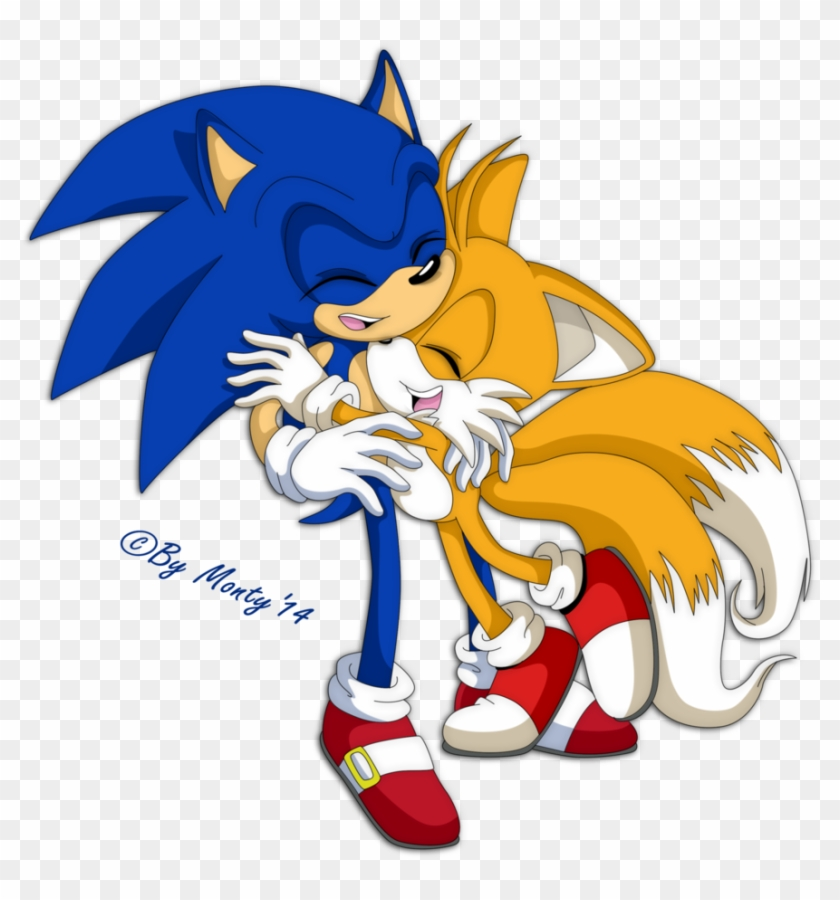 Source Fc03 Deviantart Net Report Baby Sonic Sonic And Tails Hug Free Transparent Png Clipart Images Download