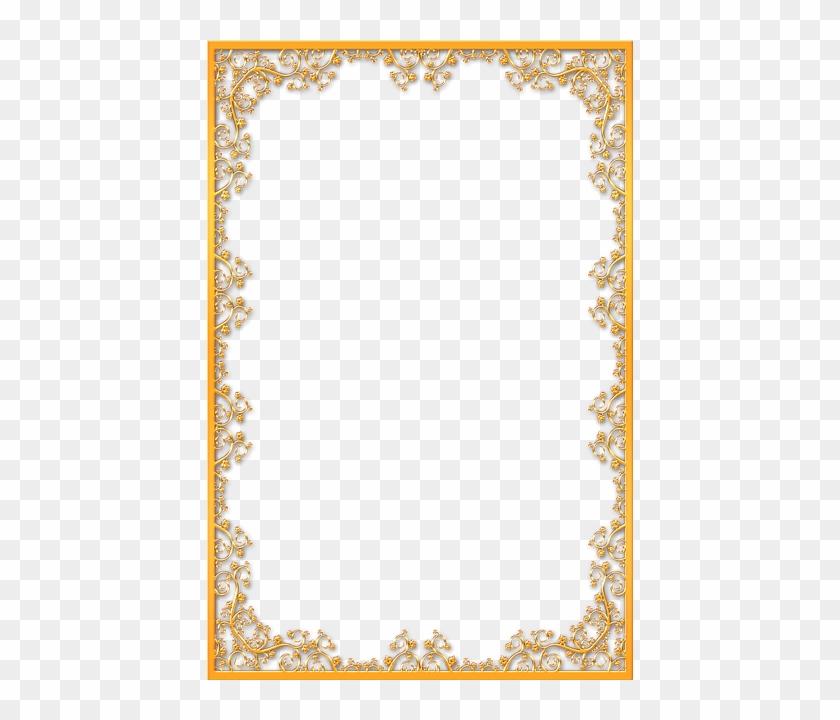 Ornate Gold Frame Png Download - Gold Vintage Border Png #1241880