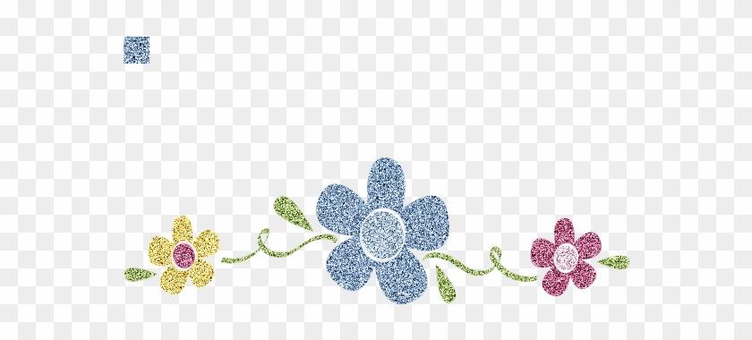 Flower Divider Clip Art #1241889