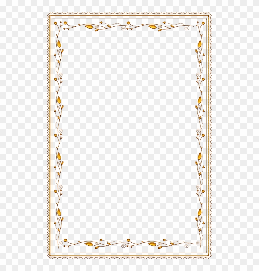 Frame Vintage Gold Ornate - Beauty And The Beast Border #1241890