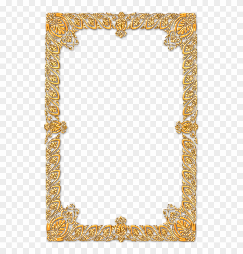 Frame Vintage Gold Ornate - Gold Frame Portrait Png #1241892