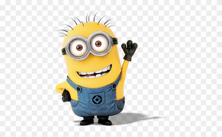 A Smiling Minion Raises One Hand To Wave Hello - Thomas ...