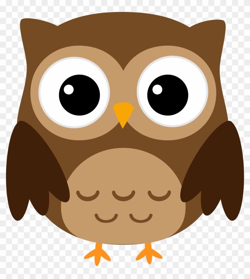 Owl Halloween Cuteness Clip Art - Great Horned Owl Cartoon ...