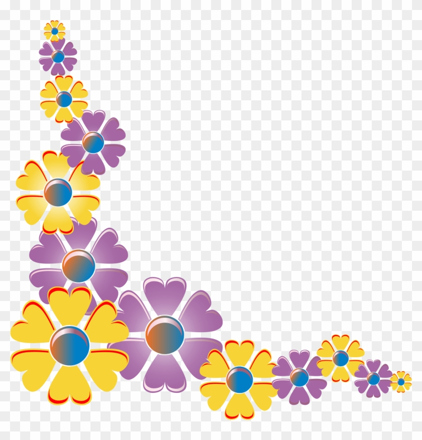 This Free Icons Png Design Of Flower Corner Variation - Clip Art Flowers #1243029